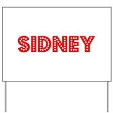 Retro Sidney (Red) Yard Sign