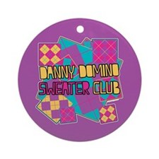 Danny Domino Sweater Club Ornament (Round)