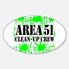 Area 51 Clean-Up Crew Oval Decal