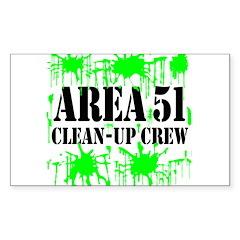 Area 51 Clean-Up Crew Rectangle Sticker 50 pk)
