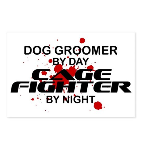 Dog Groomer Cage Fighter by Night Postcards (Packa