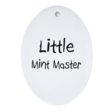 Little Mint Master Oval Ornament