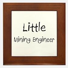 Little Mining Engineer Framed Tile