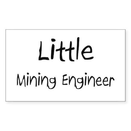 Little Mining Engineer Rectangle Sticker