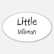 Little Milkman Oval Decal