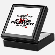 Electrician Cage Fighter by Night Keepsake Box