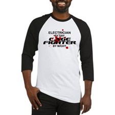 Electrician Cage Fighter by Night Baseball Jersey