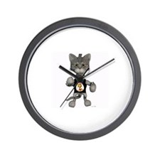 Cute Digital kitty Wall Clock