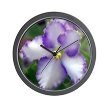 African Violet Wall Clock