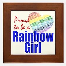 Rainbow Girls Framed Tile