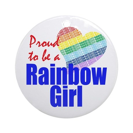 Rainbow Girls Ornament (Round)
