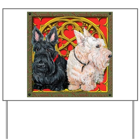 Scottish Terriers Celtic Dogs Yard Sign
