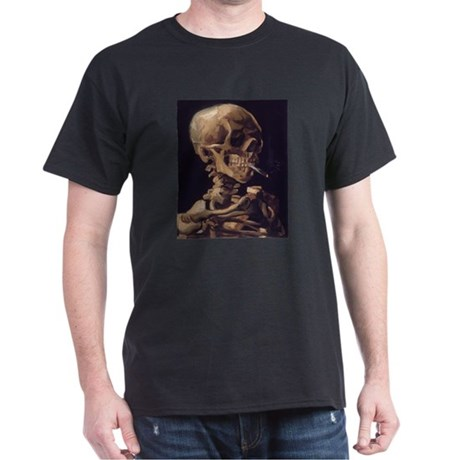 Van Gogh Skull Dark T-Shirt