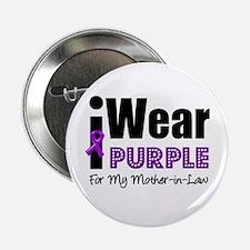 """Purple Ribbon MIL 2.25"""" Button"""