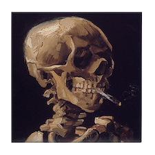 Van Gogh Skull Tile Coaster