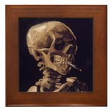 Van gogh skull Framed Tiles