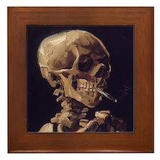 Van Gogh Skull Framed Tile