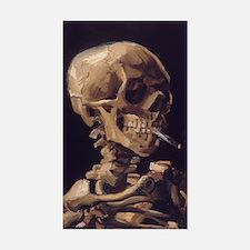 Van Gogh Skull Rectangle Decal