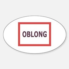 Oblong - Oval Decal