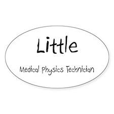 Little Medical Physics Technician Oval Decal