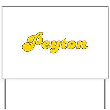 Retro Peyton (Gold) Yard Sign