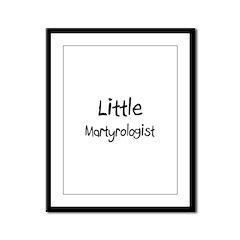 Little Martyrologist Framed Panel Print