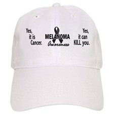 Melanoma Awareness 4 Baseball Cap