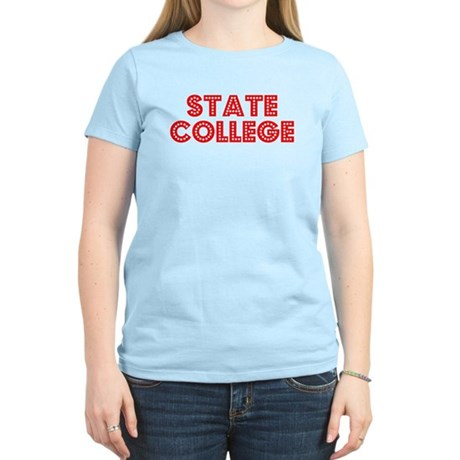 Retro State College (Red) Women's Light T-Shirt