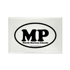 North Mariana Islands Rectangle Magnet