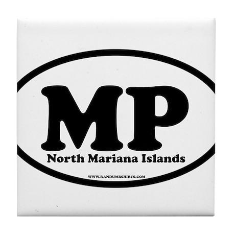 North Mariana Islands Tile Coaster