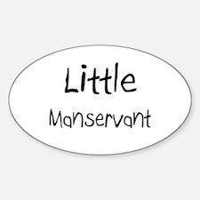 Little Manservant Oval Decal