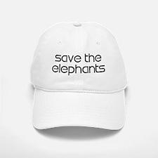Save the Elephants Baseball Baseball Cap