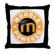 Moodle Powered Throw Pillow