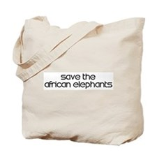Save the African Elephants Tote Bag