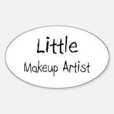 Little Makeup Artist Oval Decal