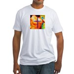 Sexy Pixelation Crossed on Fitted T-Shirt