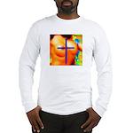 Sexy Pixelation Crossed on Long Sleeve T-Shirt