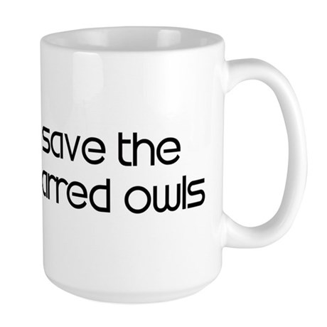 Save the Barred Owls Large Mug