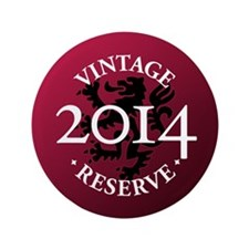 """Vintage Reserve 2014 3.5"""" Button"""