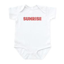 Retro Sunrise (Red) Infant Bodysuit