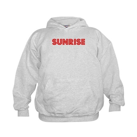 Retro Sunrise (Red) Kids Hoodie