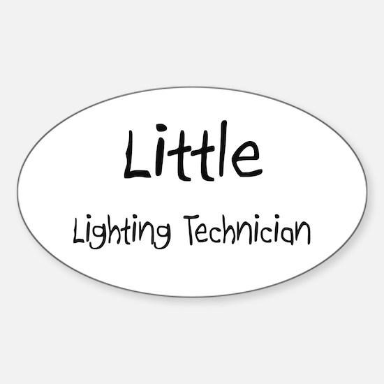 Little Lighting Technician Oval Decal