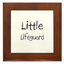 Little Lifeguard Framed Tile