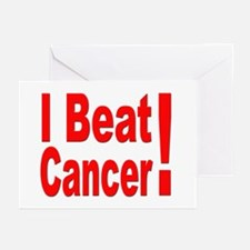 I Beat Cancer Greeting Cards (Pk of 10)