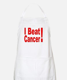 I Beat Cancer BBQ Apron