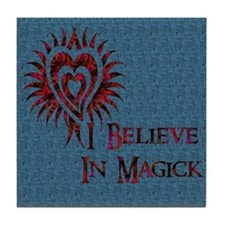 I Believe in Magick Tile Coaster