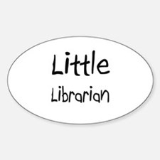 Little Librarian Oval Decal