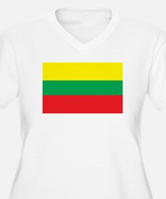 LITHUANIA Womes Plus-Size V-Neck T-Shirt