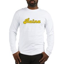 Retro Raina (Gold) Long Sleeve T-Shirt