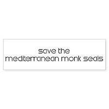 Save the Mediterranean Monk S Bumper Bumper Sticker
